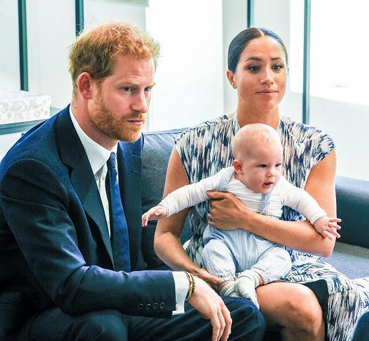 Princ Harry s vévodkyní Meghan a synem Archiem