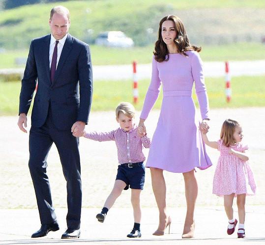 Tam s sebou měli i George a Charlotte.