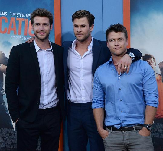 Bratři Hemsworthovi se prosadili v Hollywoodu.