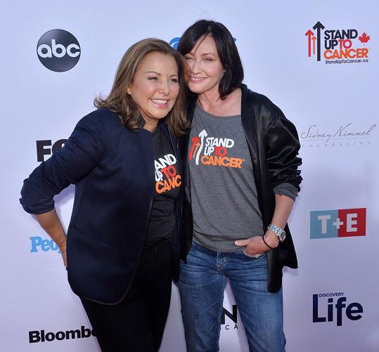 Shannen Doherty s nejlepší kamarádkou, která se také léčí s rakovinou.