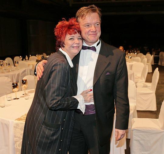 Magdalena Reifová a Michael Dymek se potkali na vyhlášení Cen české filmové kritiky.