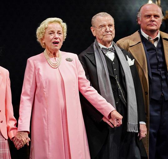 Stou reprízu Audience u královny odehrál po boku hlavní hvězdy Ivy Janžorové a Igora Bareše.