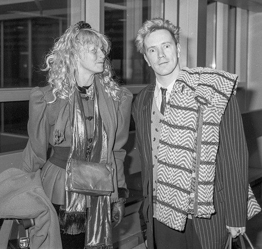 Lydon a Foster se vzali v roce 1979. Snímek z roku 1987