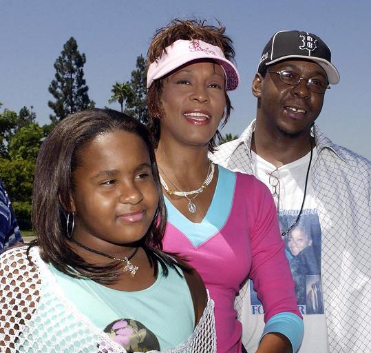 Bobby Brown v době, kdy tvořil rodinu s Whitney a Bobbi Kristinou.