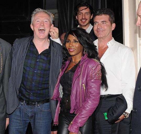 Sinitta je bývalou partnerkou Simona Cowella a je častým hostem v britském X Factoru.