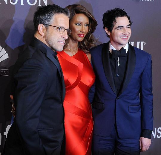Iman s americkými návrháři Kennethem Colem a Zacem Posenem