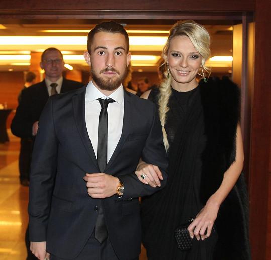 Lukáš Vácha s přítelkyní Markétou na vyhlášení Fotbalisty roku