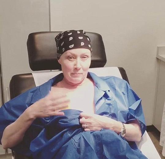 Shannen Doherty podstupuje radioterapii.