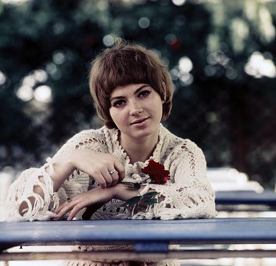 Věra Špinarová na začátku let sedmdesátých...