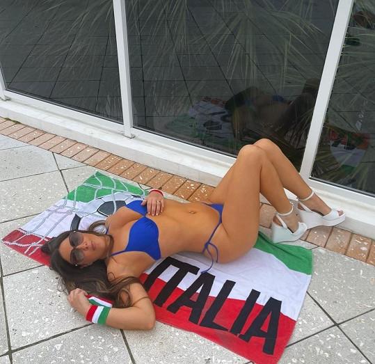 Claudia Romani je původem Italka. A velká fanynka italských fotbalistů.