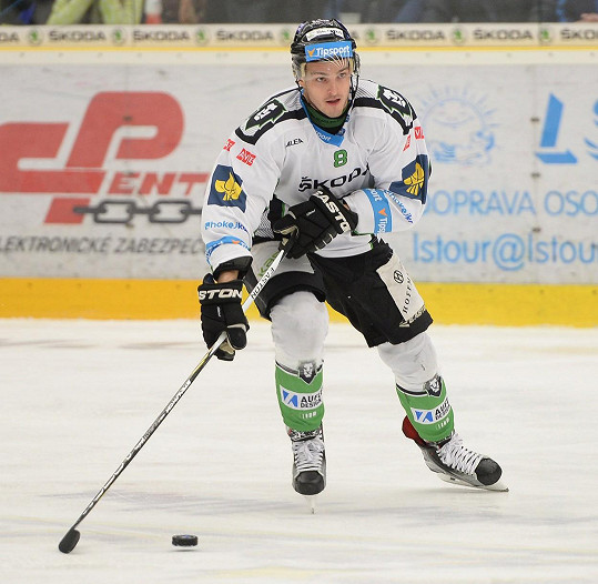 Michal hraje v dresu Mladé Boleslavi.