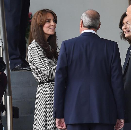 Vévodkyně si popovídala s vedením psychologického centra.