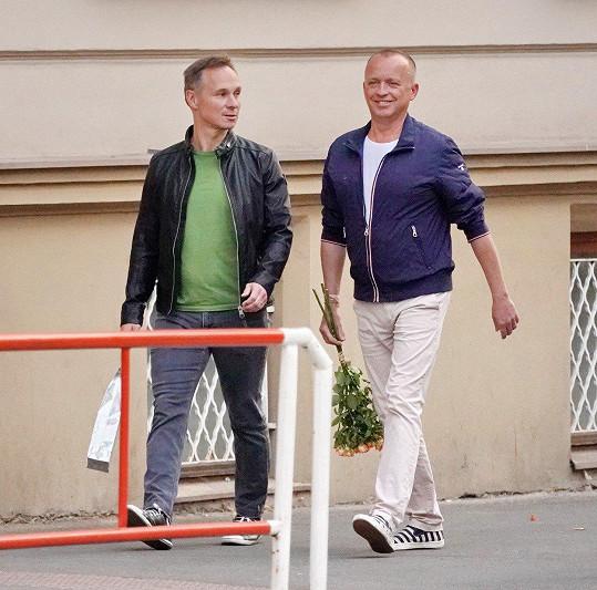 Karel s přítelem Vladimírem