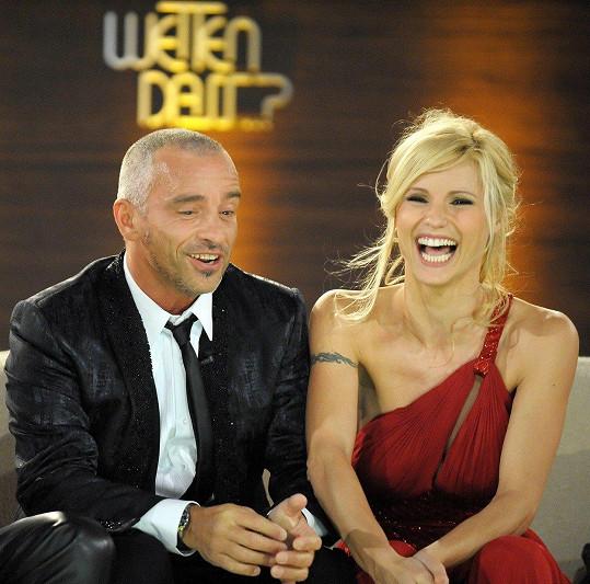 Michelle Hunziker a Eros Ramazzotti v roce 2010