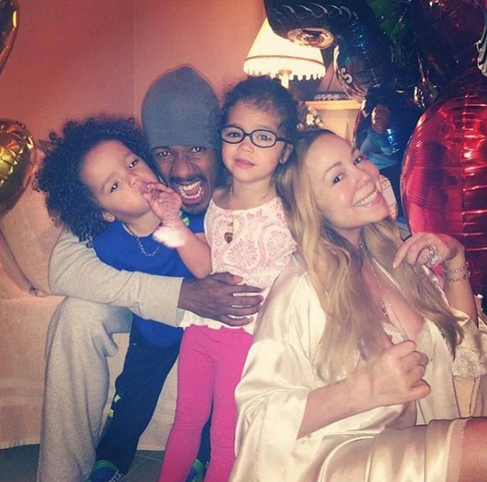 Mariah v době, kdy tvořila spokojenou rodinku.