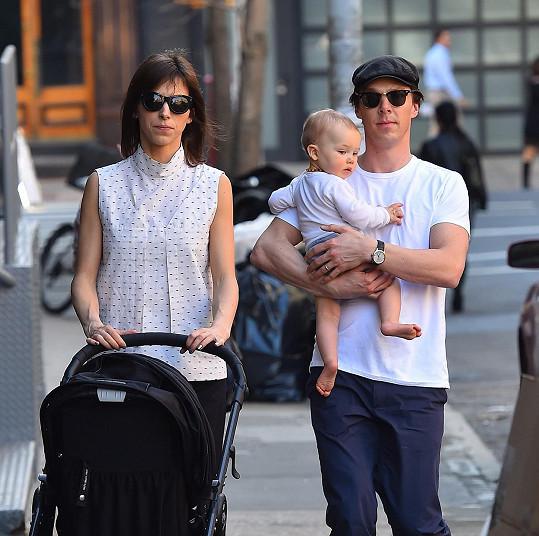 Dvojice se svým prvorozeným Christopherem
