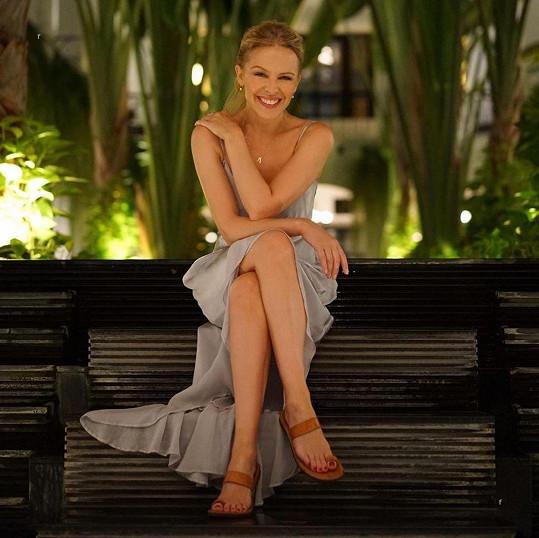 Kylie Minogue se pochlubila snímky z dětství.