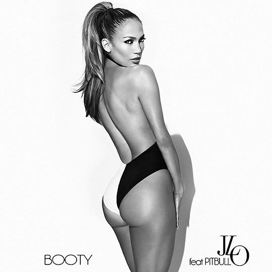 JLo na přebalu singlu Booty oslavujícího její pozadí