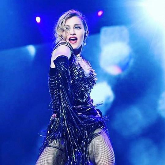 Madonna během svého turné Rebel Heart