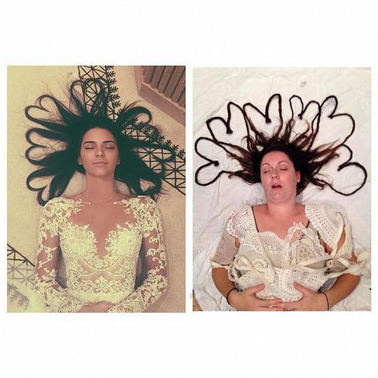 Barber často baví internet, přetvořila například fotku Kendall Jenner...