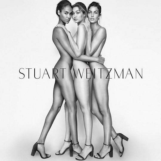 Joan Smalls, Gigi Hadid a Lily Aldridge pro amerického obuvníka Weitzmana