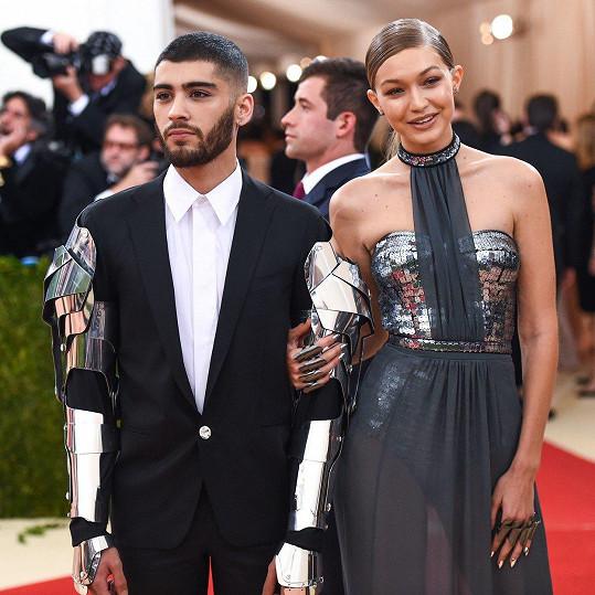 Gigi Hadid a Zayn Malik tvořili krásný pár.
