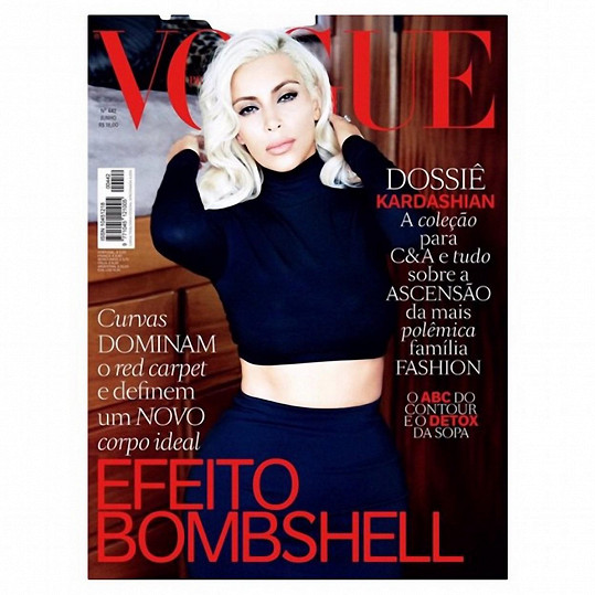 Kim Kardashian během svého blond období fotila pro brazilský Vogue.
