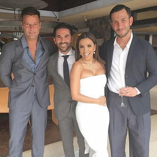 Na svatbě nechyběl Ricky Martin.