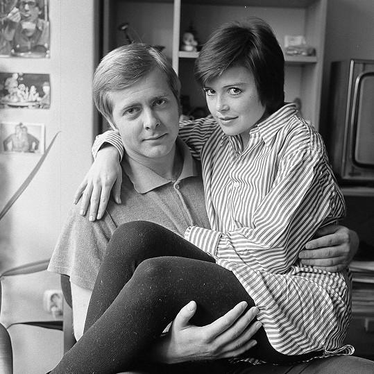 Jana Robbová s Tomášem Sedláčkem na snímku ze 70. let