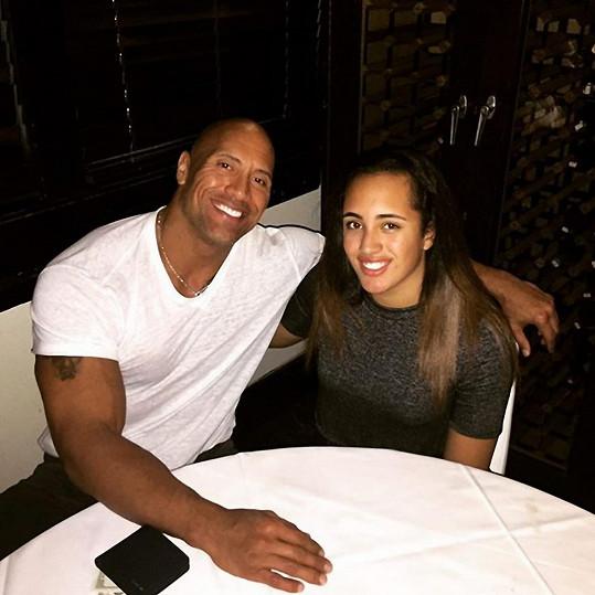Dwayne Johsnon s dcerou Simone