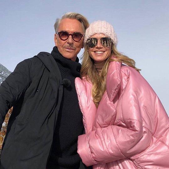 Heidi Klum a návrhář Wolfgang Joop