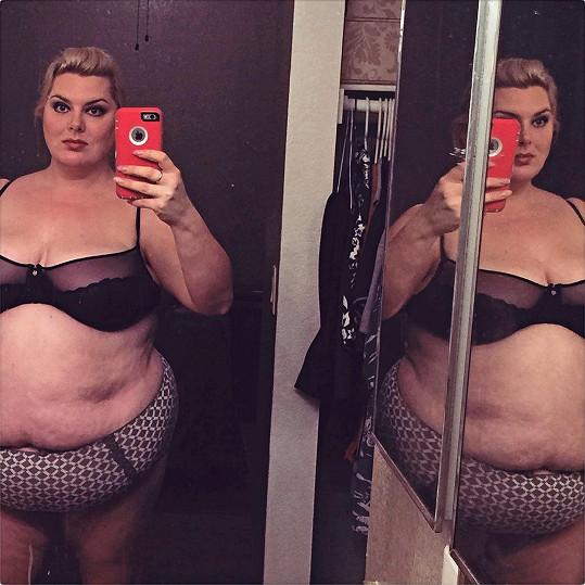 Laura Rood v době, kdy vážila 143 kilogramů.