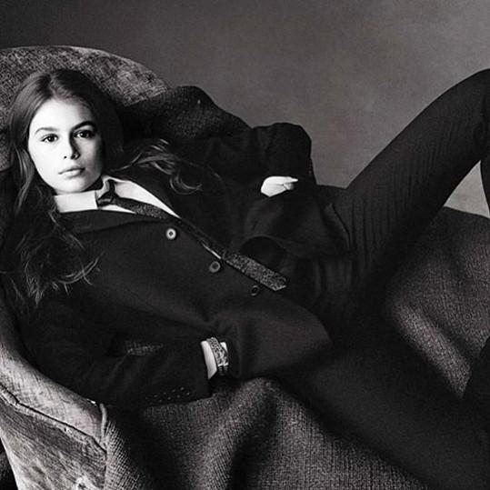 Kaia Gerber pro italský Vogue