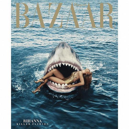 Březnové číslo magazínu Harper's Bazzar s Rihannou na titulce