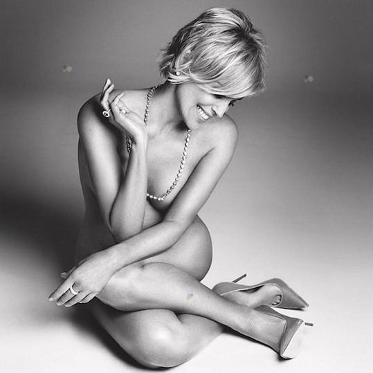 Sharon Stone pro Harper's Bazaar