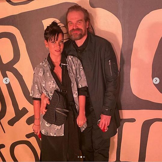Lily Allen s partnerem Davidem Harbourem