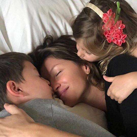 Gisele Bündchen na krásném rodinném snímku