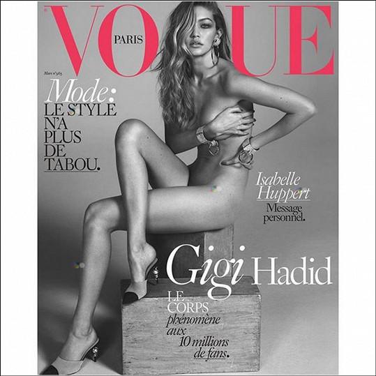 Hadid letos zabodovala i touto obálkou Vogue.