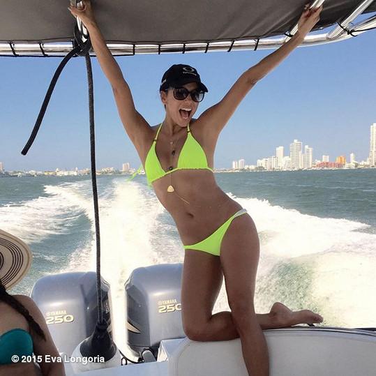 Eva Longoria na jachtě