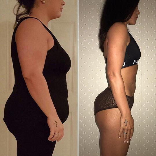 Za jejím fenomenálním zhubnutím je opět hlavně výběr stravy.
