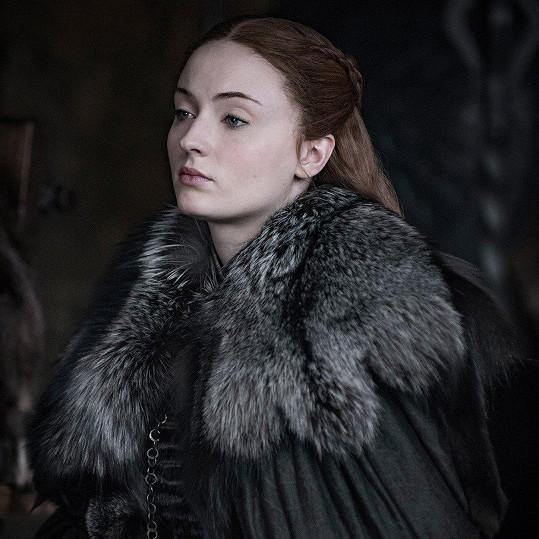 Sophie Turner jako Sansa Stark ve Hře o trůny