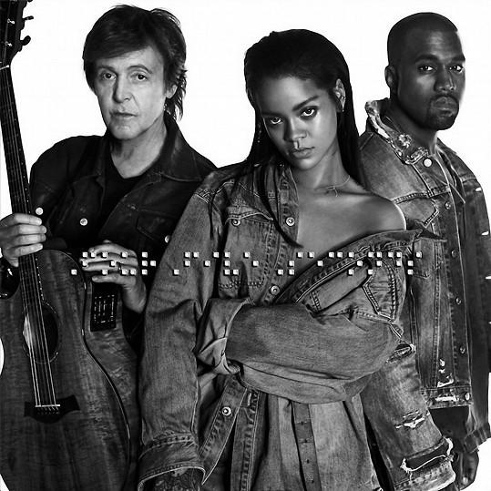 Rihanna nazpívala i společnou píseň s Paulem McCartneym a Kanyem Westem.