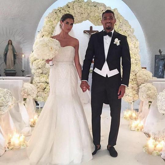Melissa Satta a Kevin-Prince Boateng se vzali loni v červnu ve městě Porto Cervo.