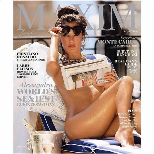 Alessandra Ambrosio byla časopisem Maxim vyhlášena nejvíc sexy podnikatelkou roku.