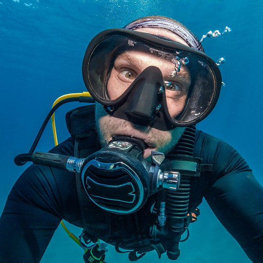 Nick Polanszky snímek pořídil u pobřeží ostrova Bonaire.