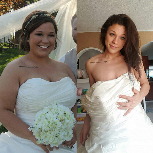 Do svých svatebních šatů by se dnes vešla skoro dvakrát.