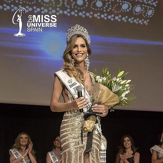 Angela jako Miss Španělsko 2018