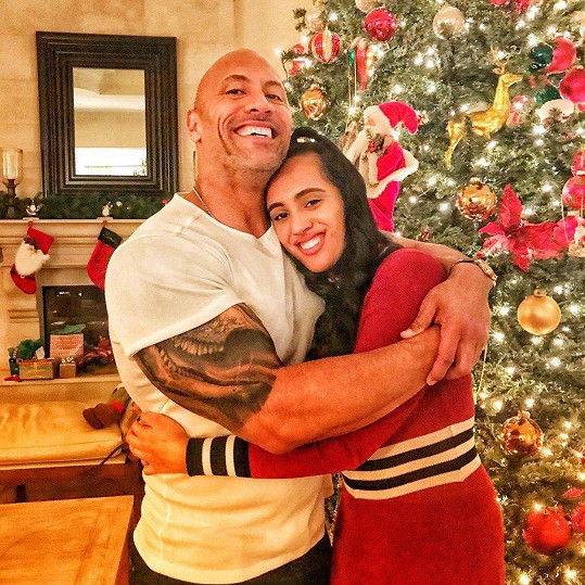 Dwayne Johnson s dcerou Simone