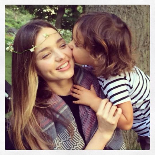 Miranda se synem Flynnem