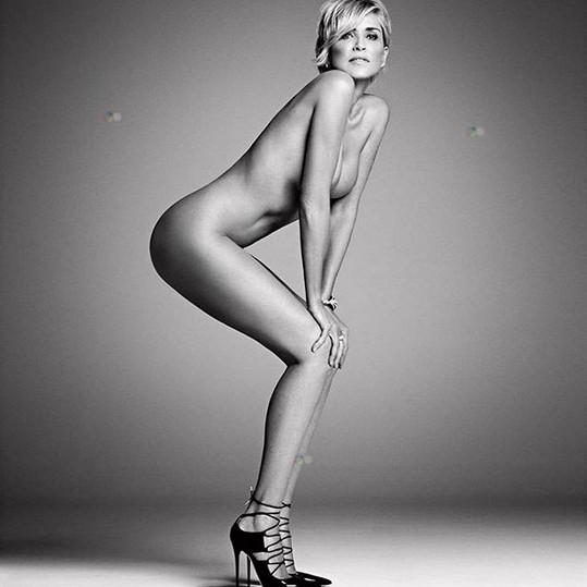 Sharon Stone se svlékla i před pěti lety pro časopis Harper's Bazaar.
